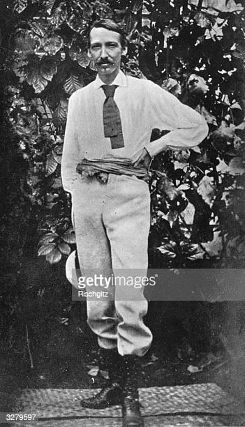 The last portrait from life of Robert Louis Balfour Stevenson Scottish novelist writer and traveller