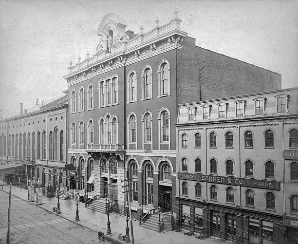 Exterior view of Tammany Hall, headquarters of the...