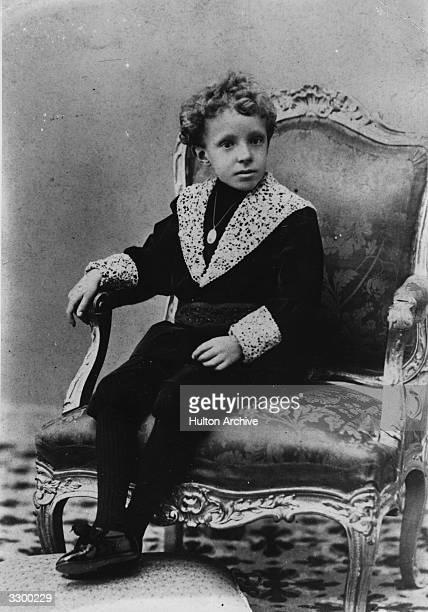 King Alfonso XIII king of Spain from 1886 to 1931 the posthumous son of King Alfonso XII