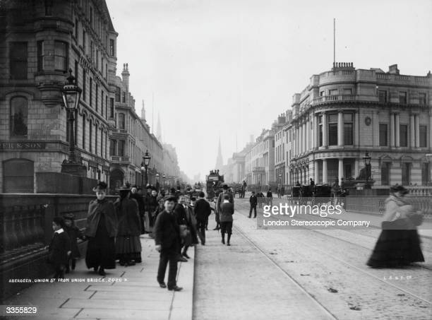Looking down Union Street in Aberdeen Aberdeen situated on the North Sea is known as the Granite City because granite is one of its main exports and...