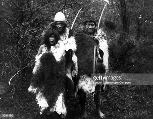 Ona Native Americans carrying bows The Ona once occupied the interior of Tierra del Fuego subsisted by hunting and were expert archers Their main...