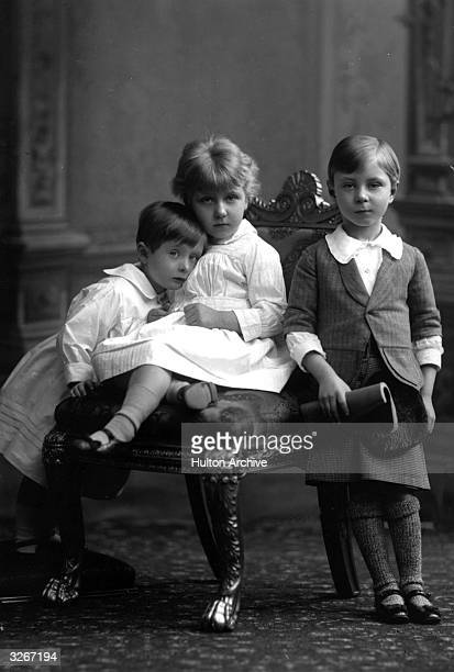 Victoria Eugenia of Battenberg granddaughter of Queen Victoria nicknamed 'Ena' She later married King Alfonso XIII of Spain Henry hugging her and...