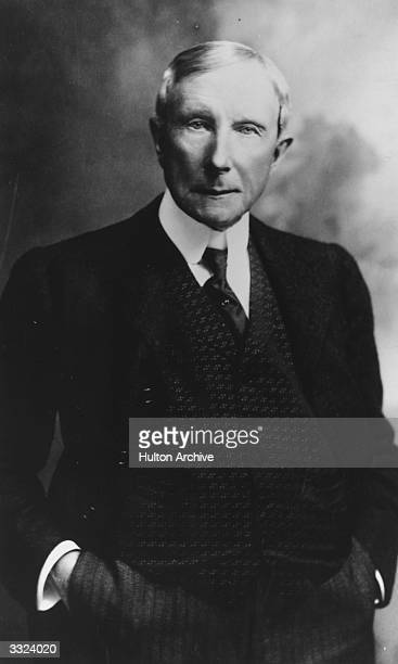 US philanthropist and industrialist John D Rockefeller