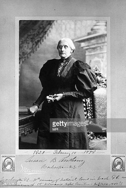 American abolitionist and suffragette Susan B Anthony
