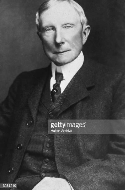 American industrialist and philanthropist John D Rockefeller