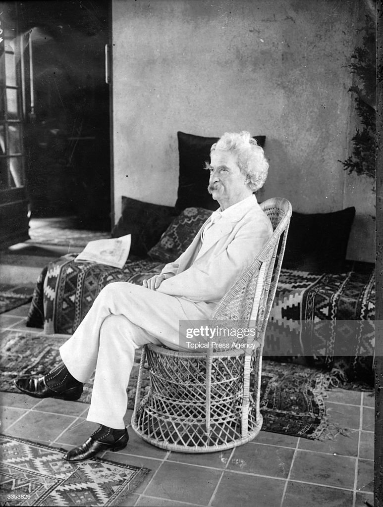 American writer and humourist Samuel Langhorne Clemens (1835 - 1910) whose pseudonym Mark Twain means two fathoms deep. His most famous work is 'The Adventures Of Huckleberry Finn' (1884).