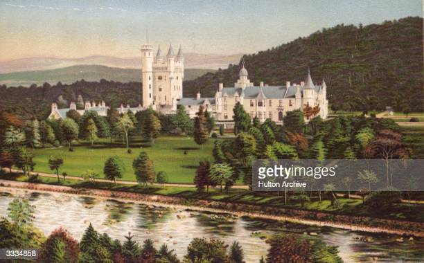 Balmoral Castle beside the River Dee in Aberdeenshire. Prince Albert, Queen Victoria's husband, purchased Balmoral Castle in 1846, and the small...