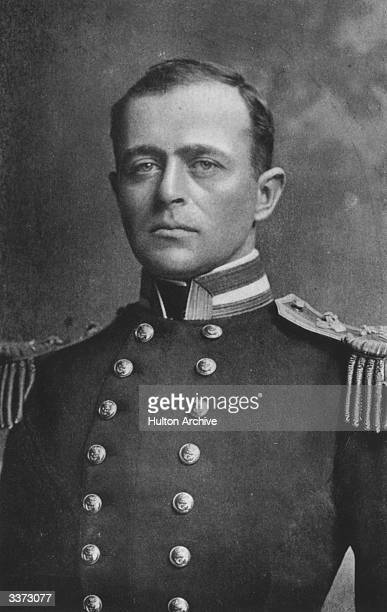 British naval officer and Antarctic explorer Robert Falcon Scott