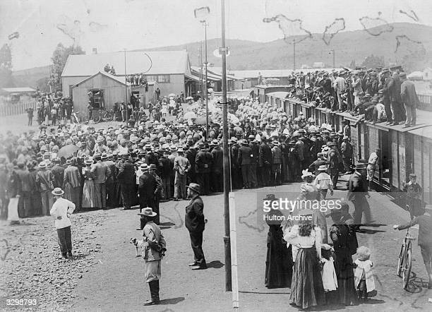 British prisoners arrive in Pretoria during the Boer War.