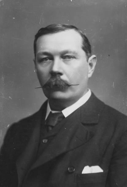 British writer Sir Arthur Conan Doyle , creator of...