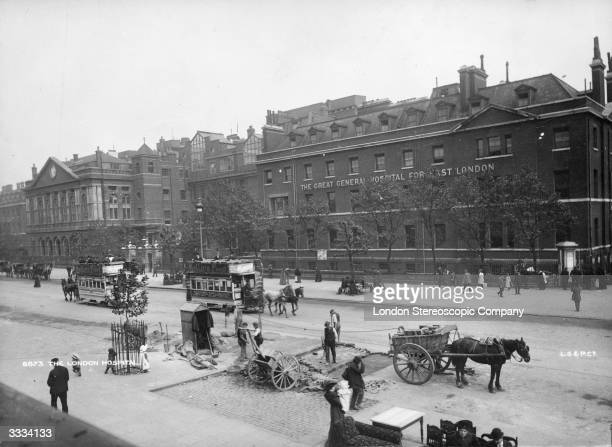 Exterior of The Great General Hospital For East London in Whitechapel Road