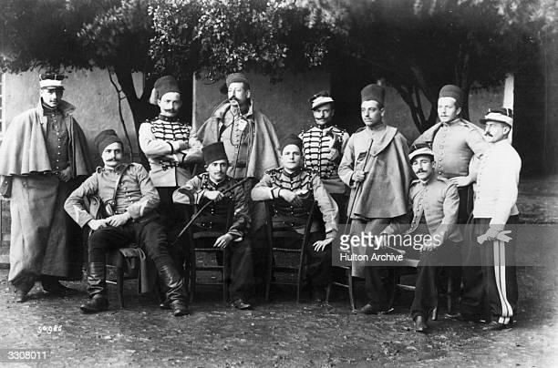 French Algerian spahis or cavalrymen.