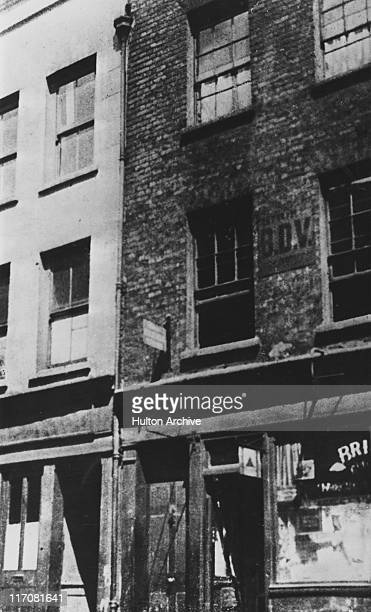 Hanbury Street in Spitalfields east London where Annie Chapman was murdered by serial killer Jack the Ripper on 8th September 1888