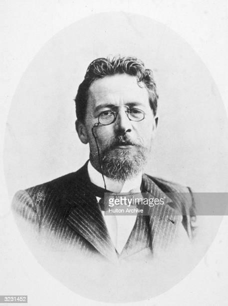 Headshot portrait of Anton Chekhov Russian writer and playwright of short stories