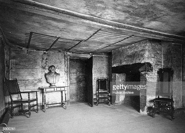 Interior of the birthplace of the English dramatist William Shakespeare at StratforduponAvon
