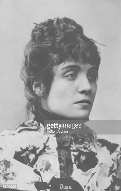 Italian actress Eleonora Duse mistress of the poet Gabriele D'Annunzio