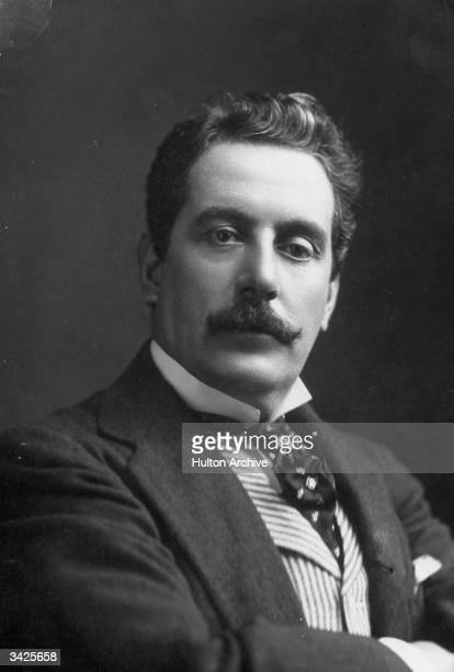 Italian composer Giacomo Puccini . Original Artist: By Elliott & Fry.