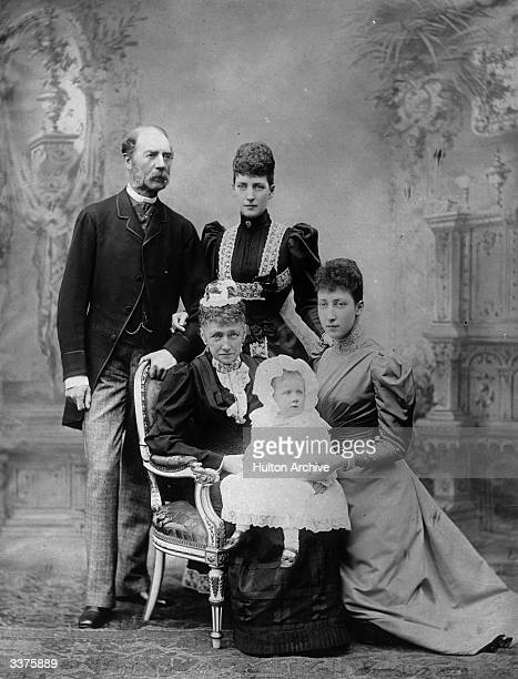 King Christian IX of Denmark with his wife Louise of HesseKassel their daughter Alexandra and other members of their family