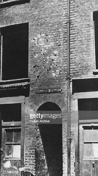 Miller's Court in Dorset Street east London where Mary Jane Kelly was murdered by serial killer Jack the Ripper on 9th November 1888
