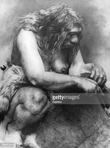 Portrait of a prehistoric woman