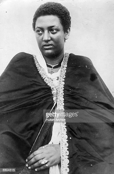 Portrait of the Empress Taitu of Abyssinia wife of Menelik II