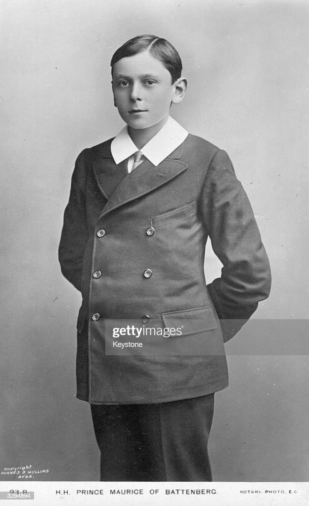 Prince Maurice of Battenberg (1891 - 1914), the third son of Princess Beatrice and Prince Henry of Battenberg.
