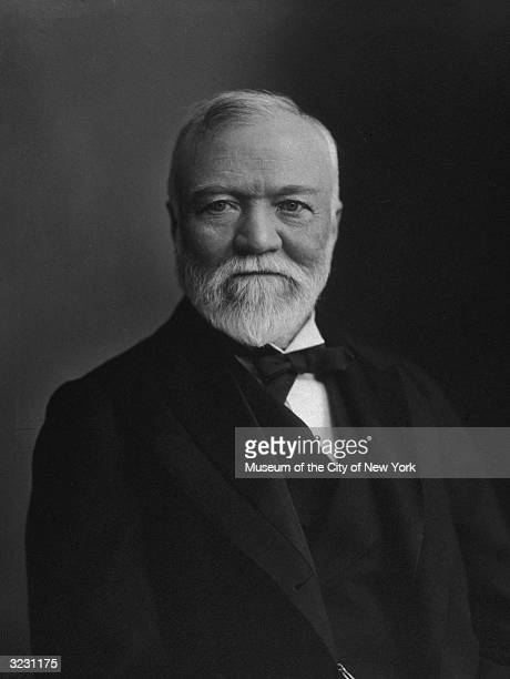 Scottishborn American industrialist and philanthropist Andrew Carnegie
