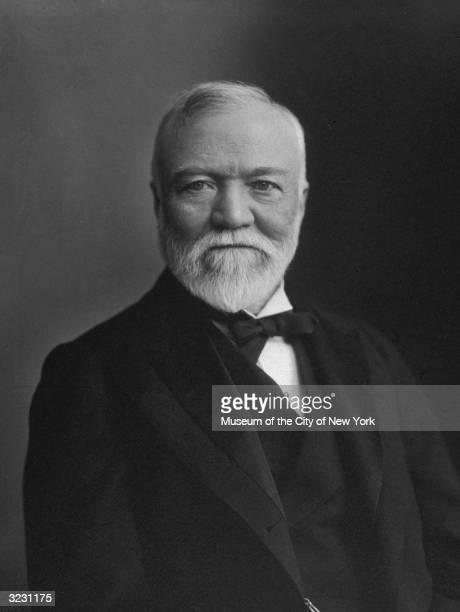 Scottishborn American industrialist and philanthropist Andrew Carnegie