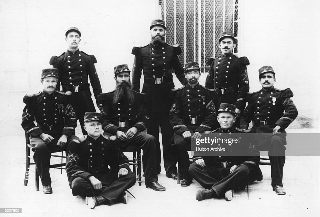 The 1st regiment of the French Foreign Legion, Algiers.