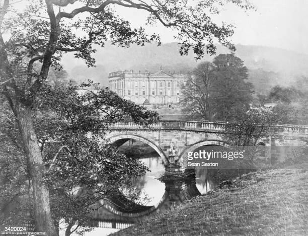 The grounds of Chatsworth House, in Derbyshire, landscaped by Capability Brown.