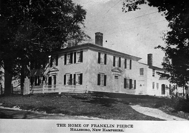 The house in Hillsboro, New Hampshire, of Franklin...