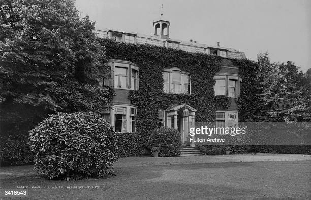 The last home of English novelist Charles Dickens and his parents Gads Hill House near Rochester where he died suddenly on 9th June 1870
