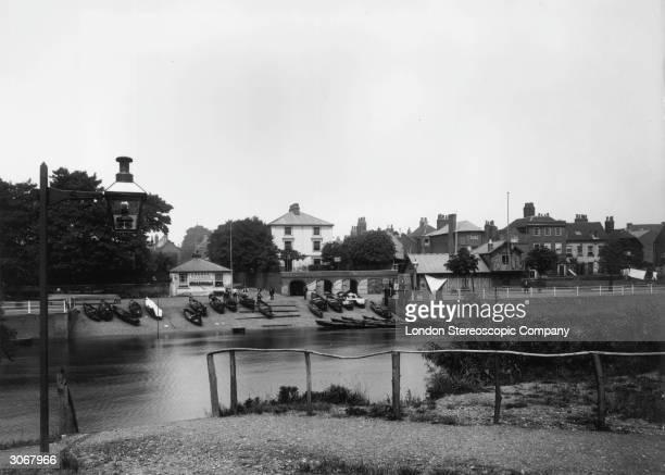 The Middlesex mainland at Twickenham Surrey from Eel Pie Island