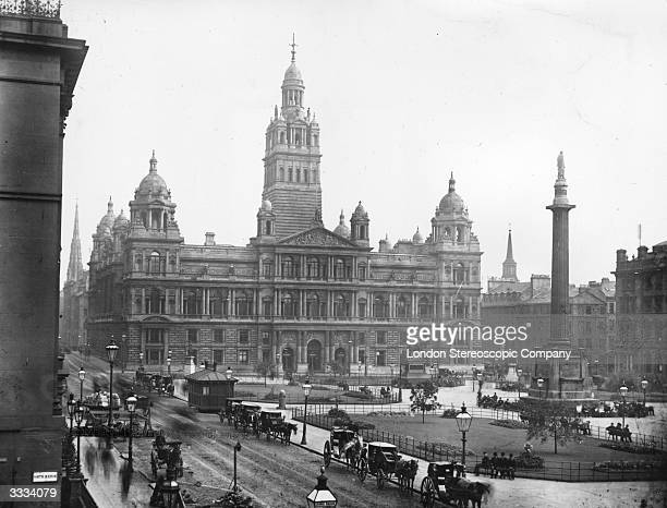 The Municipal Buildings in George Square central Glasgow Glasgow's City Chambers are built in Italian Renaissance style and were opened by Queen...