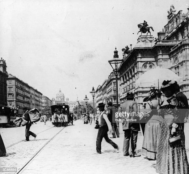 The Ringstrasse at Vienna Original Publication From a sepia print