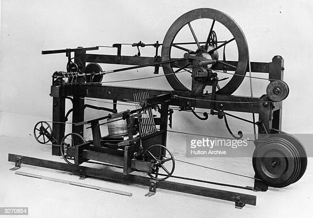 The spinning mule invented by Samuel Crompton in 1779