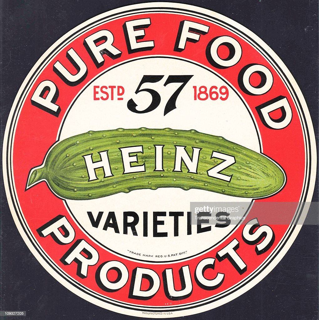 PITTSBURGH, circa 1900, This barrel label for Heinz pickles was printed around 1900, somewhere near their home town of Pittsburgh.