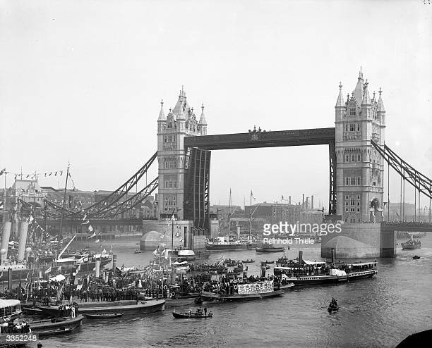 Tower Bridge on the River Thames near the Tower of London a monument to the Victorian Era It was completed in 1894