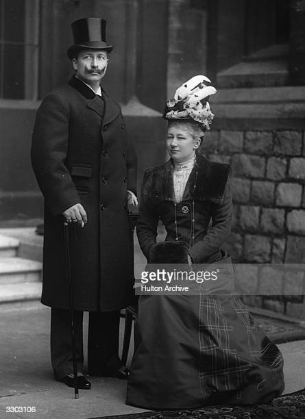 Wilhelm II of Germany Emperor from 1888 the son of Frederick III and Victoria daughter of Queen Victoria of England with his wife Augusta Victoria
