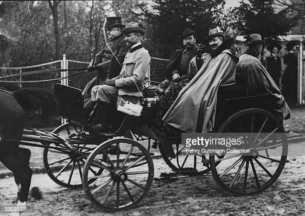 Wilhelm II of Germany riding through the streets of Berlin with Tsar Nicholas II