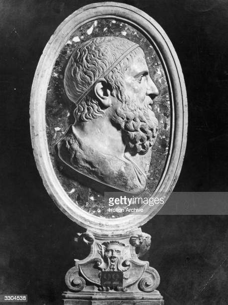 Greek mathematician Archimedes A bust in the Capitoline Museum Rome