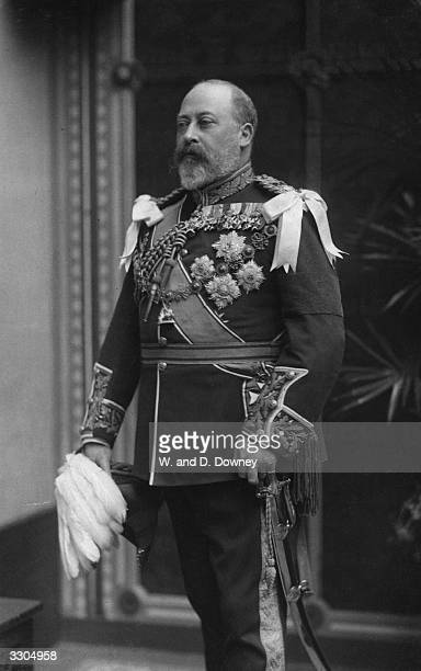 King Edward VII, , who ascended the British throne in 1901, on the death of his mother Queen Victoria.