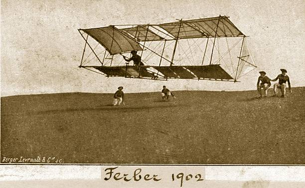 Captain Ferdinand Ferber's 1902 glider just launched....