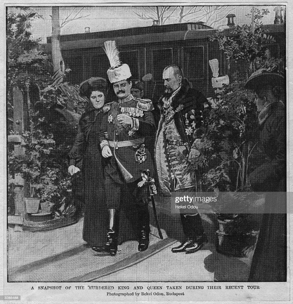 King Of Serbia : News Photo
