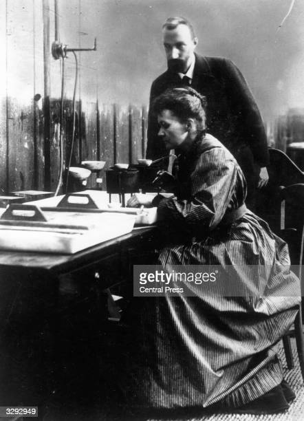 Marie and Pierre Curie French physicists and Nobel Prize winners