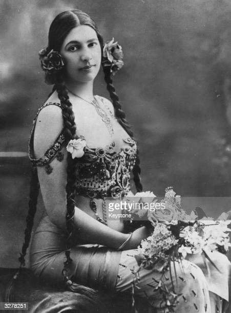 Mata Hari the stage name of Margarete Gertrude Zelle the famous dancer who used her profession as a cover to spy for the Germans for which she was...