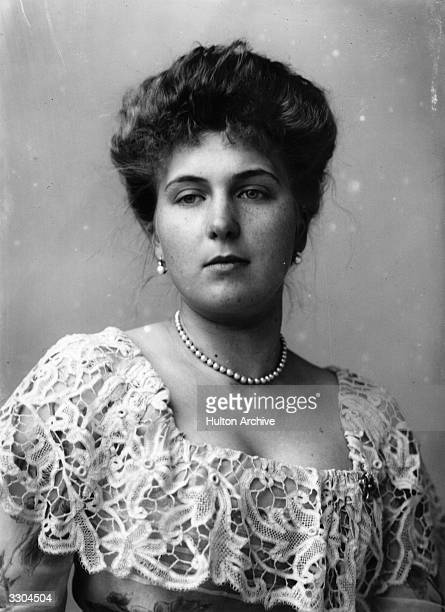 Princess Victoria Eugenie of Battenberg a granddaughter of Queen Victoria before her marriage to King Alfonso XIII of Spain