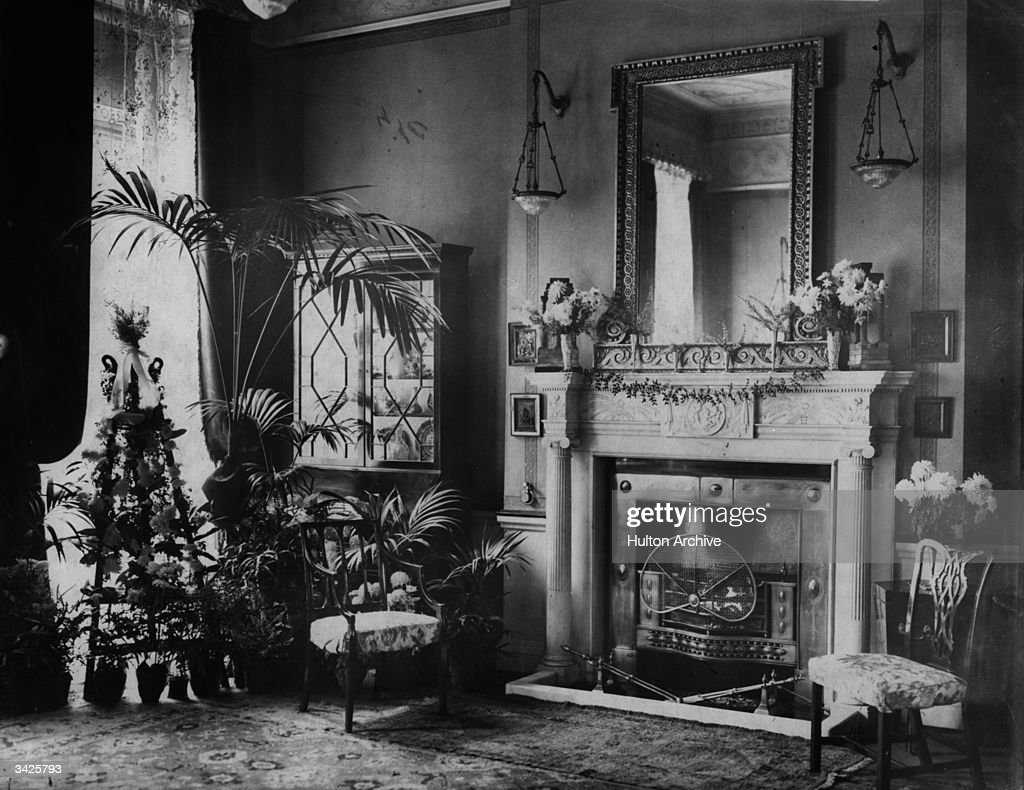A Fireplace In An Edwardian Drawing Room