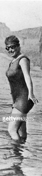 Annette Kellerman who attempted to swim the English Channel