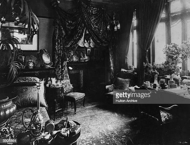 British actress Lillie Langtry's drawing room